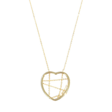 HEART,WITH,CHAIN,PENDANT,NECKLACE