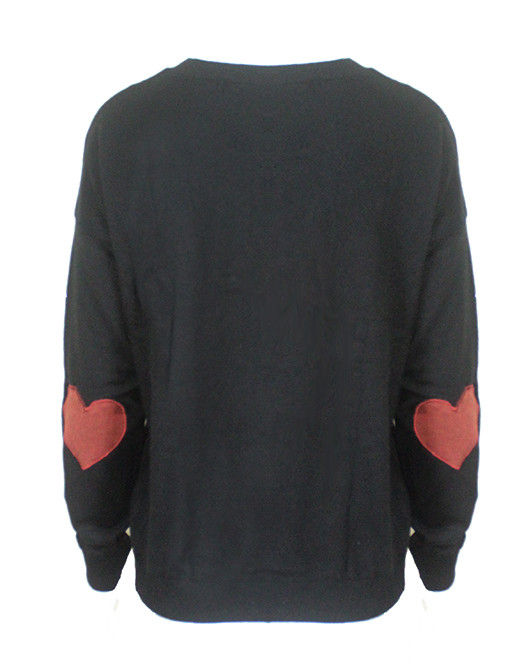 HEART ELBOW PATCH JUMPER - product image
