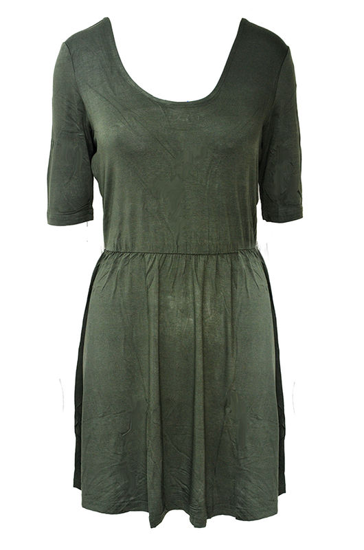 HALF SLEEVE JERSEY DRESS - product image