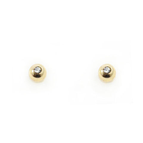 GOLD,TONE,WITH,CRYSTAL,MINIMAL,EARRINGS