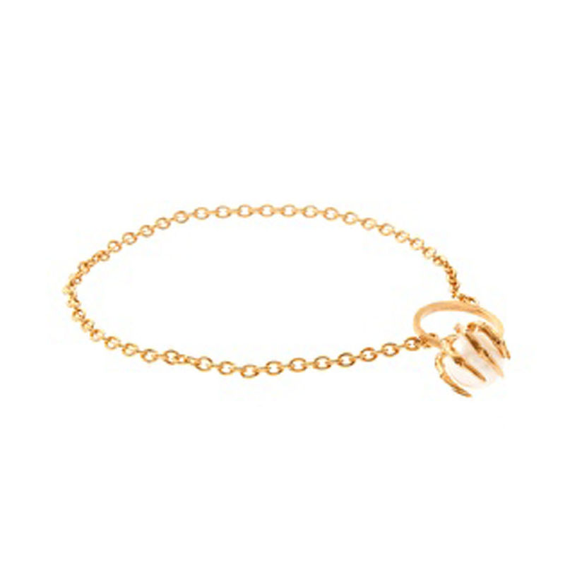 GOLD TONE TALON WITH PEARL BRACELET - product image