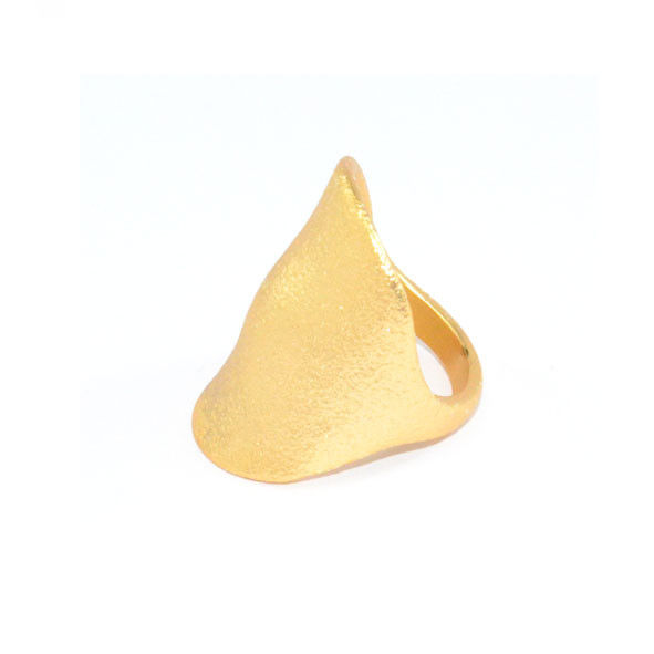 GOLD TONE RUGGED SURFACE RING - product image