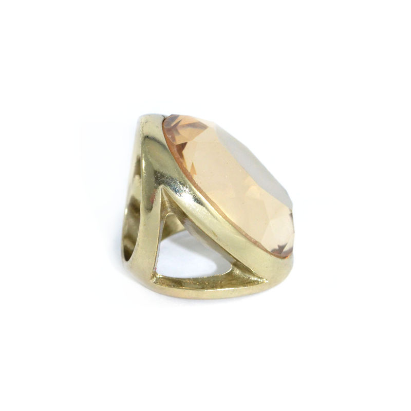 GOLD TONE EDGE WITH CRYSTAL RING - product image