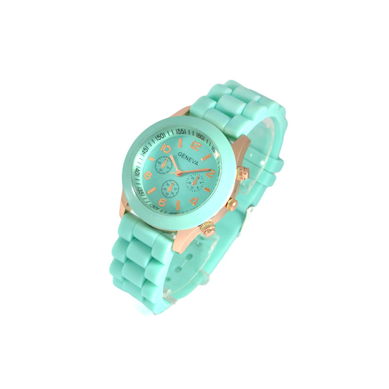 GOLD TONE EDGE COLOUR PLASTIC WATCH - product image