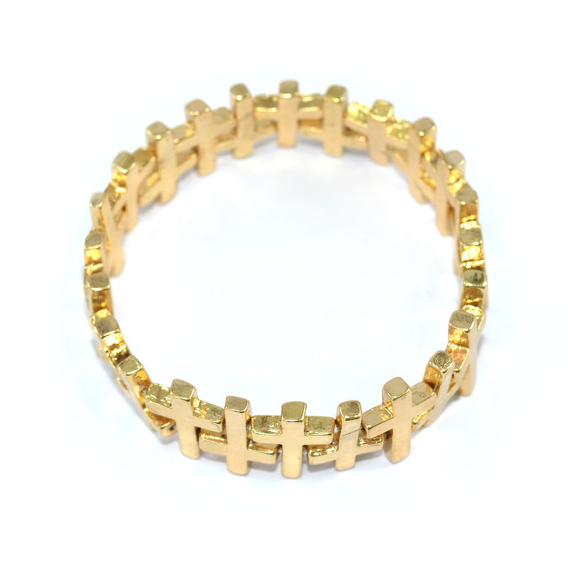 GOLD TONE CROSS STRETCH BRACELET - product image
