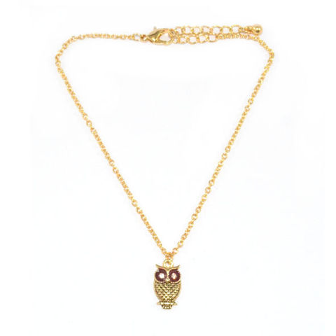 GOLD,TONE,CHAIN,CRYSTAL,EYES,OWL,BRACELET