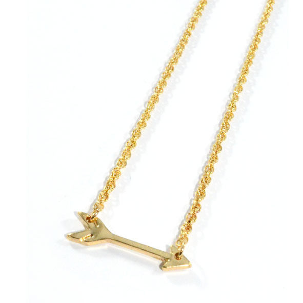 GOLD TONE ARROW NECKLACE - product image