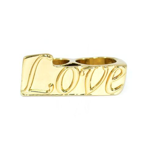 GOLD,TONE,LOVEMESSAGE,DOUBLE,RING