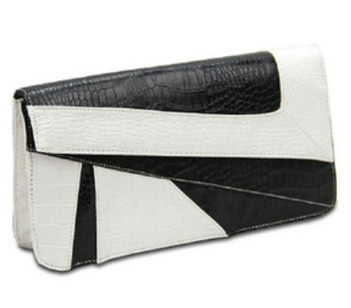 GEO PRINT CLUTCH BAG - product image