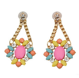 GEM AND CRYSTAL DROP EARRINGS - product image