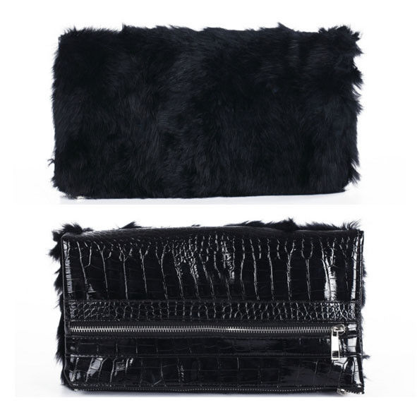 FUR FOLD CLUTCH BAG - product image