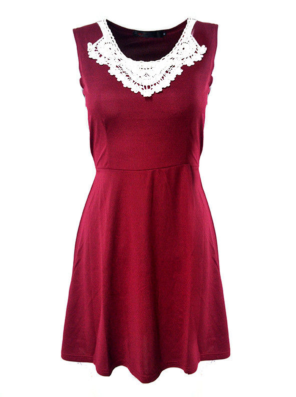 FRONT FLORAL LACE DRESS - product image