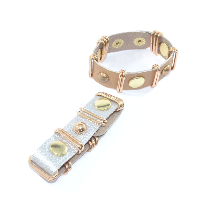 FAUX LEATHER STUD AND BUCKLE BRACELET - product image