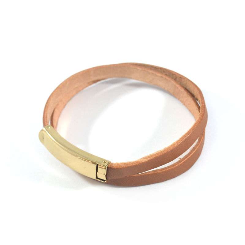 FAUX LEATHER BELT BRACELET - product image