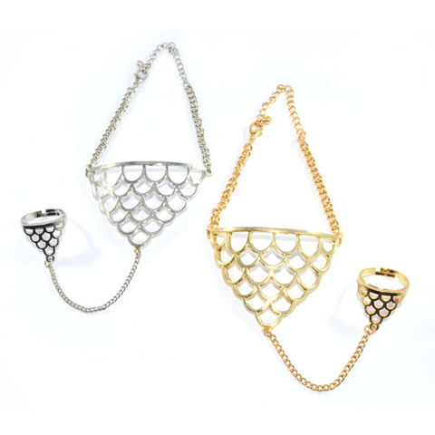 DOUBLE,TRIANGLE,CHAIN,BRACELET