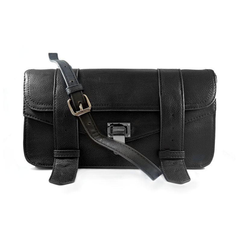DOUBLE STRAP PU LEATHER SHOULDER BAG - product image