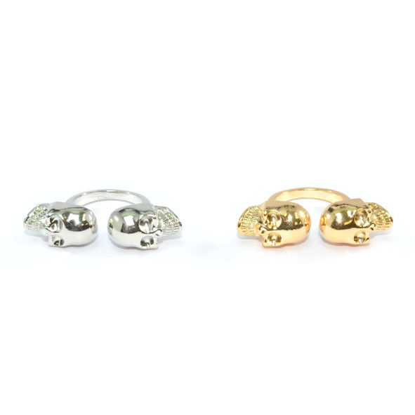 DOUBLE SKULL RING - product image