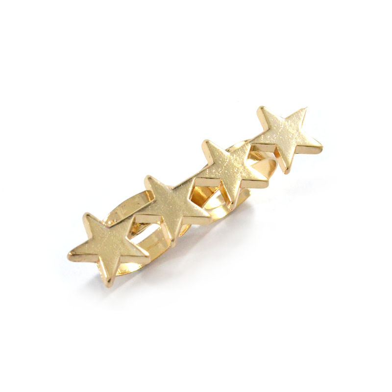 DOUBLE FINGER STARS RING - product image