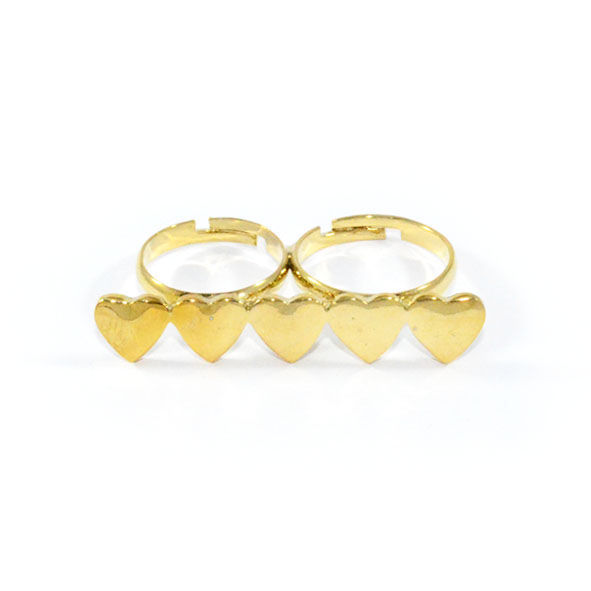 DOUBLE FINGER HEART RING - product image