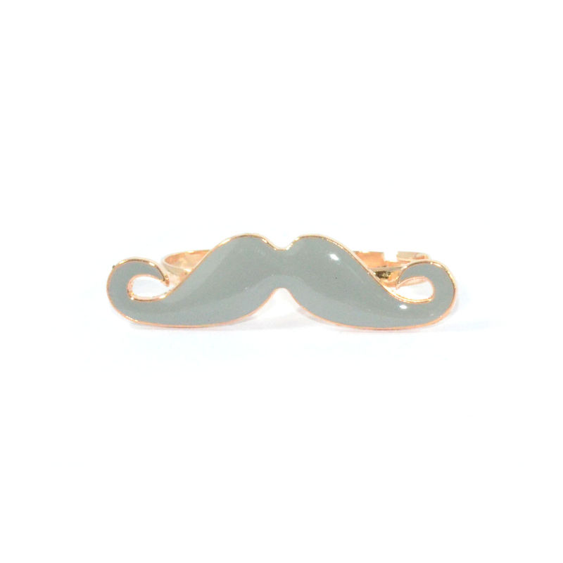DOUBLE FINGER  MOUSTACHE RING - product image