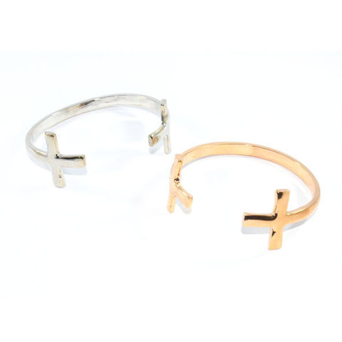 DOUBLE,CROSS,BANGLE
