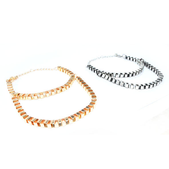 DOUBLE CHAIN METAL STYLE BRACELET - product image