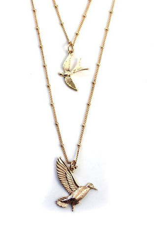 DOUBLE,BIRDS,NECKLACE