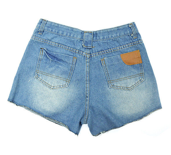 DISTRESSED WORKER DENIM SHORTS - product image