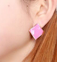 CURVE SQUARE EARRINGS - product image