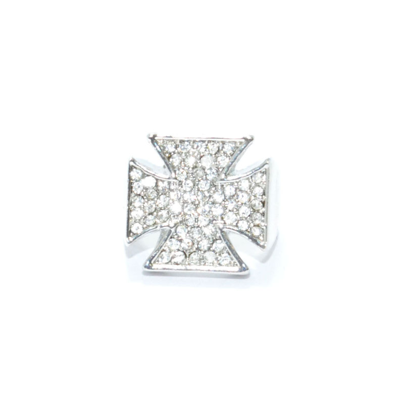 CRYSTALS CROSS RING - product image