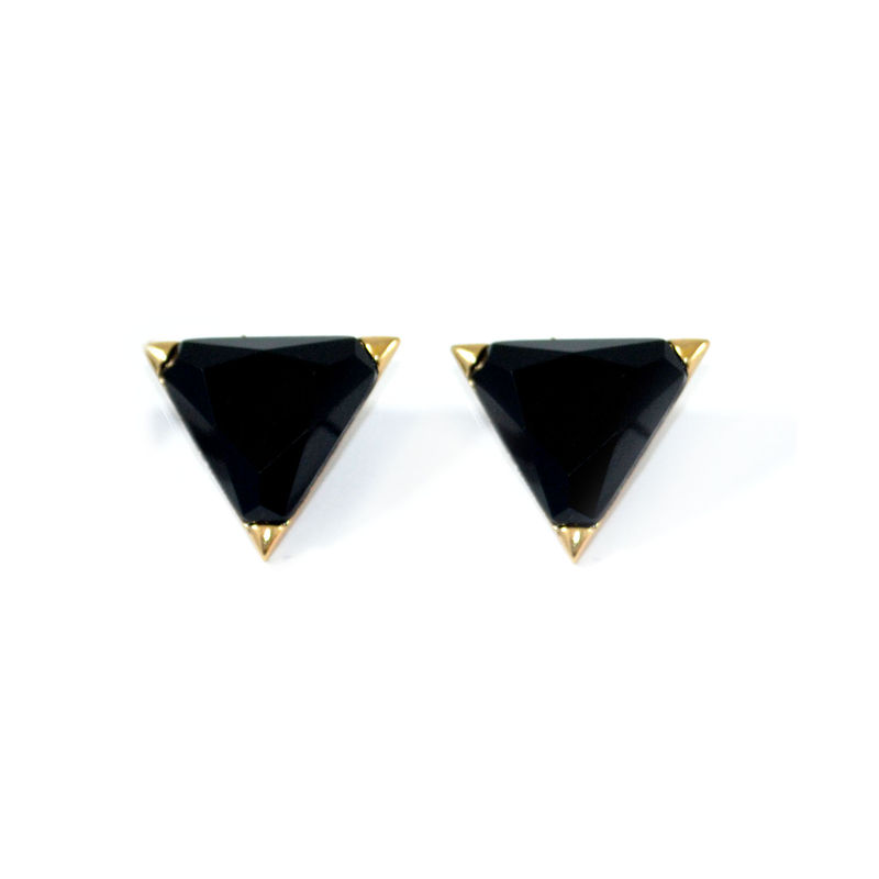 CRYSTAL TRIANGLE EARRINGS - product image