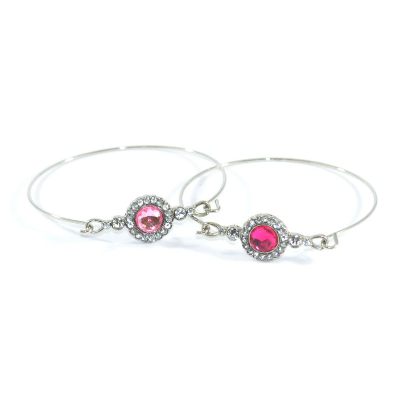 CRYSTAL FLOWER PENDANT BANGLE - product image