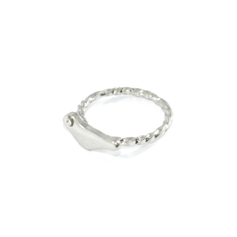 CRYSTAL EYED BIRD RING - product image