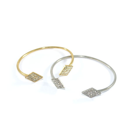 CRYSTAL,DOUBLE,RHOMBUS,BANGLE