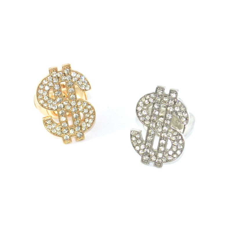 CRYSTAL DOLLAR SIGN RING - product image