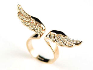 CRYSTAL,DECOR,WING,SPAN,RING