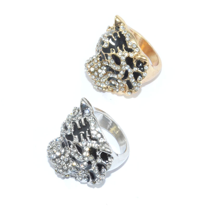 CRYSTAL DECOR TIGER RING - product image