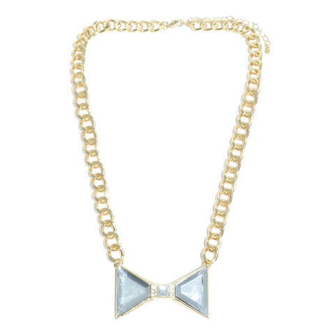 CRYSTAL,BOW,WITH,CHAIN,NECKLACE