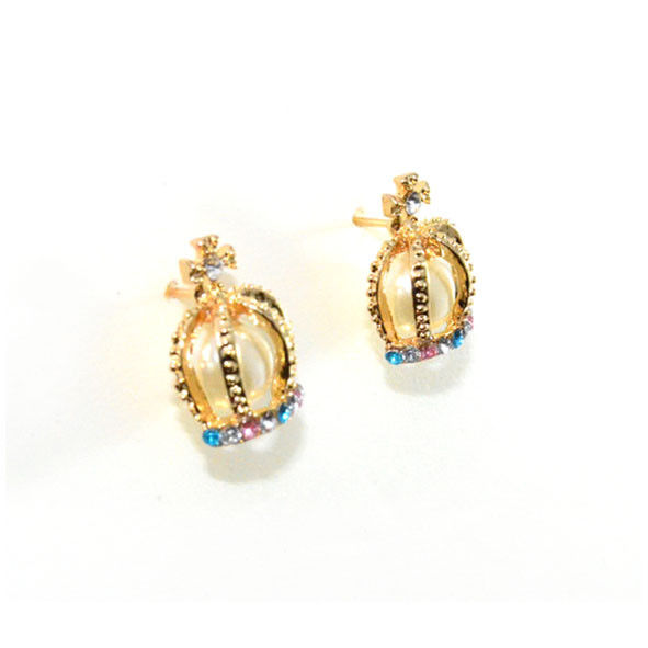 CROWN AND PEARL EARRINGS - product image