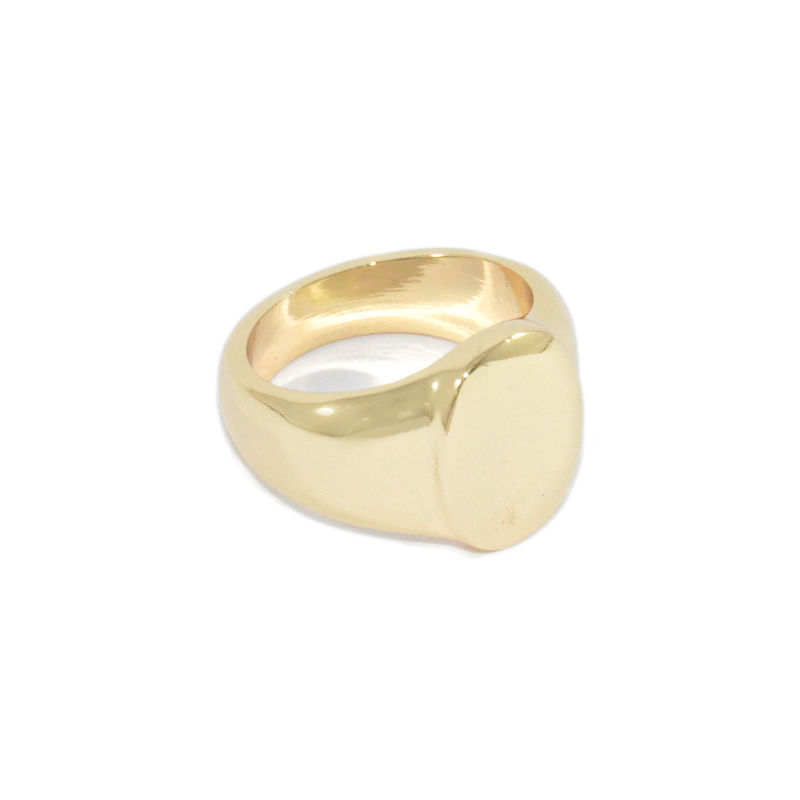 SHINY OVAL RING - product image