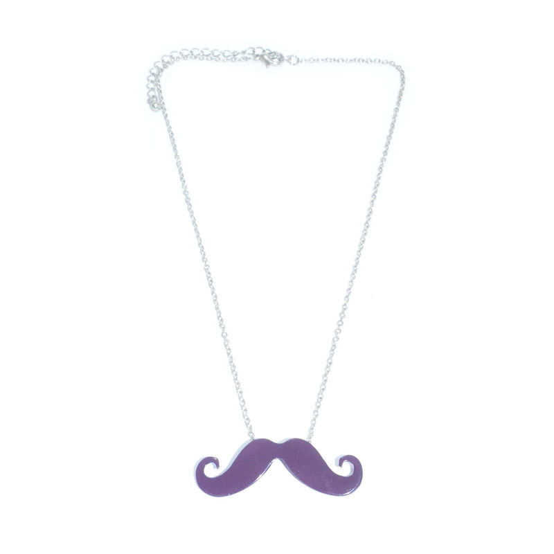 SHINY MUSTACHE NECKLACE - product image