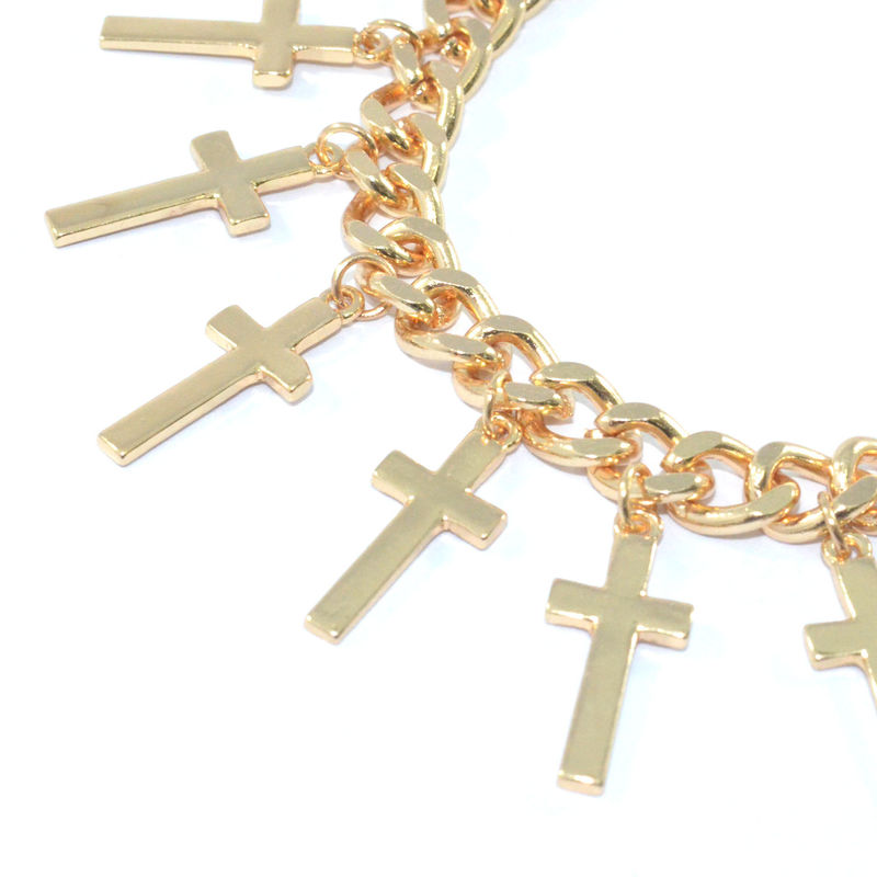 SHINY MULTI CROSS BRACELET - product image
