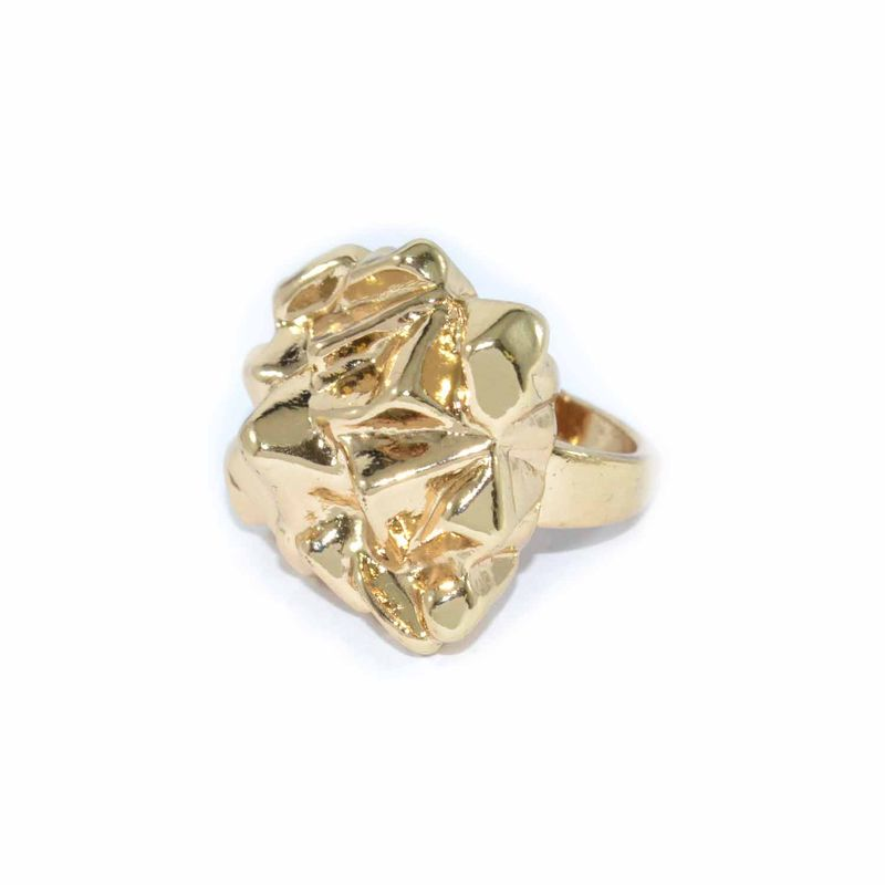 SHINY METAL IRREGULAR SURFACE RING - product image