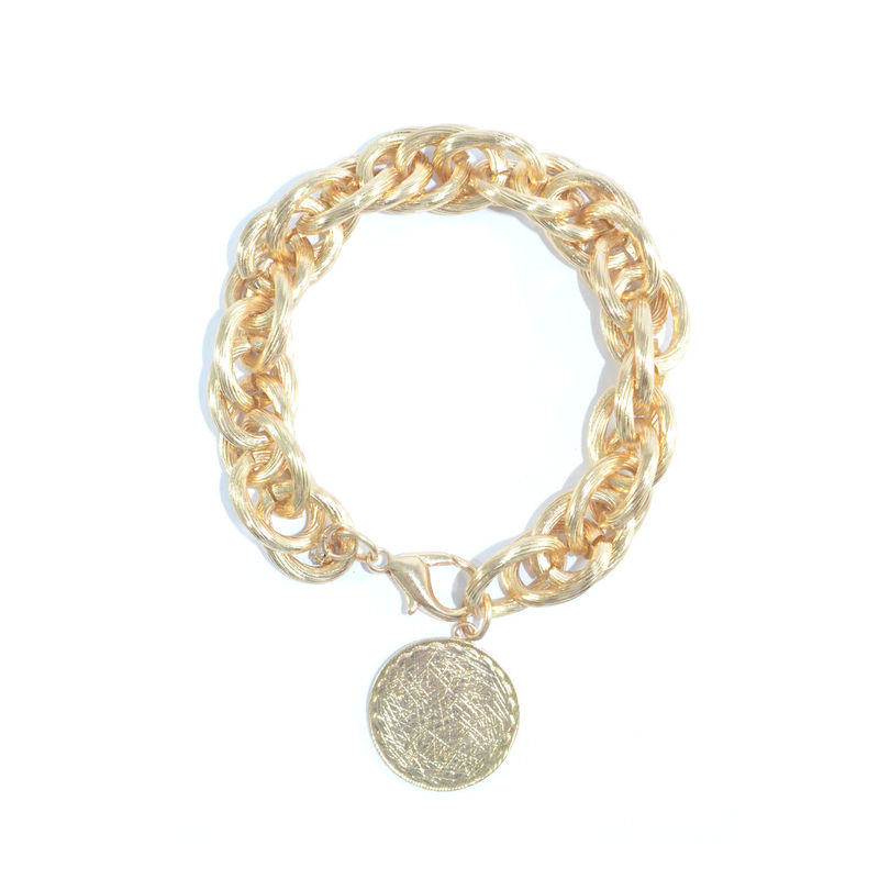 SCRATCH MEDAL CHAIN LINK BRACELET - product image