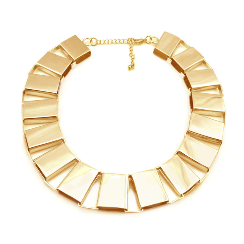 RECTANGULAR CHAIN LINK NECKLACE - product image