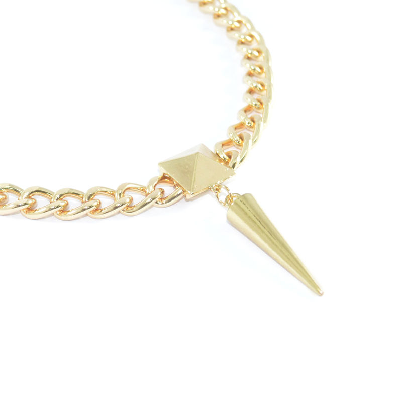 PYRAMID AND SPIKE PENDANT NECKLACE - product image