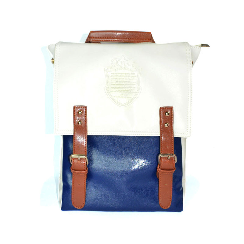 PU LEATHER TWO TONE BACKPACK - product image