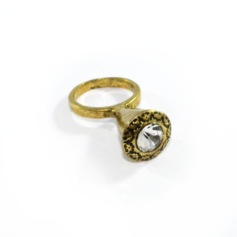 PRECIOUS,CONE,RING,CYLINDER CRYSTAL RING, GOLDEN CRYSTAL RING