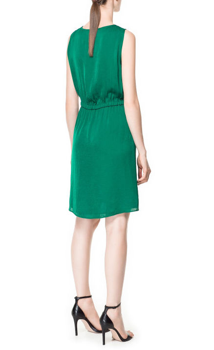 PLEATED FRONT DRESS - product image