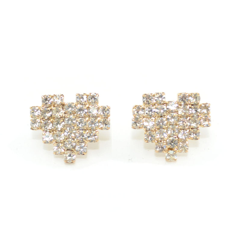 PIXEL HEART STUD EARRINGS - product image